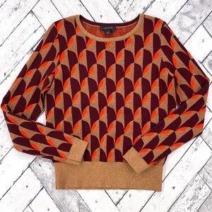 Ann Taylor Metallic Long Sleeve Sweater
